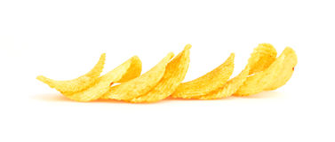Chips isolated on white Stock Photo