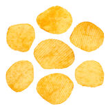 Chips isolated on white Royalty Free Stock Images