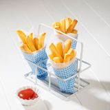 Chips With Ketchup Royaltyfria Bilder