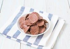 chips met chocolade stock foto's