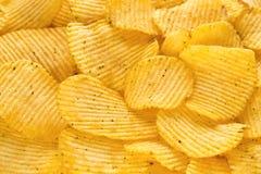 Chips mit Zwiebeln Hintergrund Stockbild