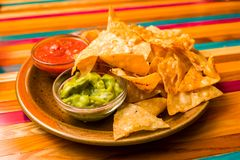 Chips nachos on a plate Stock Photo