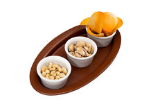 Chips and nuts Stock Images