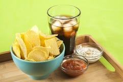 Chips och cola Royaltyfri Bild