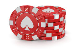 Chips Of Casino (clipping Path Included) Stock Photography