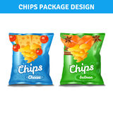 Chips Pack Design Arkivfoton