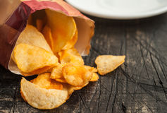 Chips with packaging Stock Photo