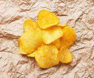 Chips on paper Stock Image