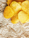 Chips on paper Royalty Free Stock Images