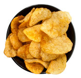 Chips on a plate Royalty Free Stock Photography