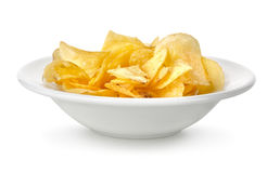 Chips in a plate Royalty Free Stock Images