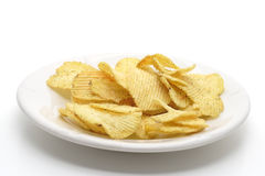 Chips on a plate Royalty Free Stock Images