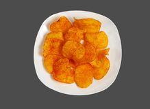 Chips on a plate. Stock Photography