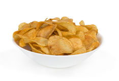 Chips in plate Stock Photo