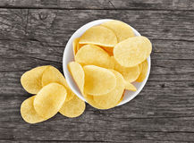 Chips in a plate Royalty Free Stock Photos