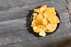 Chips on the plate Royalty Free Stock Images