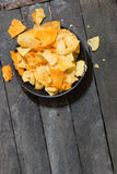 Chips on the plate Stock Images