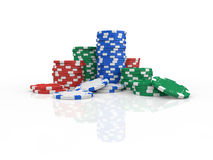 chips poker Royaltyfri Foto