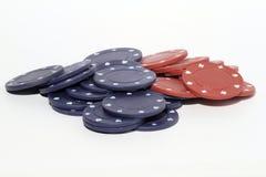 chips poker royaltyfri foto