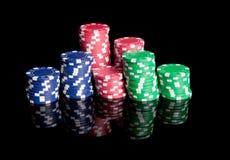 chips poker royaltyfri bild