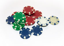 chips poker Arkivbild