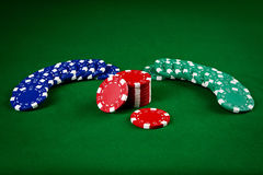 Chips for poker Royalty Free Stock Photography