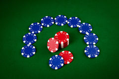 Chips for poker Stock Photography