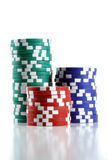 chips poker Arkivbilder