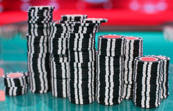 Chips for poker Royalty Free Stock Photos