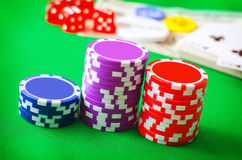 Chips for poker Stock Image