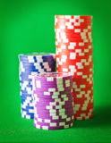 Chips for poker Royalty Free Stock Photo