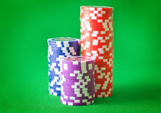 Chips for poker Stock Photos