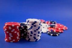 chips poker Fotografering för Bildbyråer