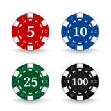 chips poker Royaltyfria Bilder