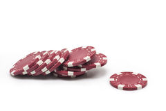chips poker Arkivfoton