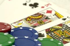 chips poker Arkivfoton