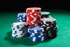 Chips for poker Stock Images