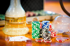 Chips for poker and hookah Stock Image