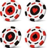 chips pokervektorn Arkivfoto