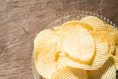 Chips populairste snack stock foto