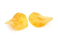 chips potatis två fotografering för bildbyråer