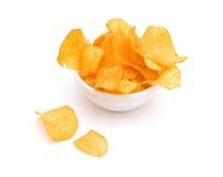 chips potatisen Royaltyfria Bilder