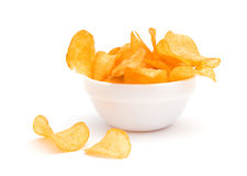 chips potatisen Arkivbild