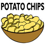 chips potatisen Arkivfoto