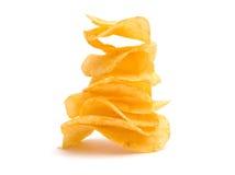 chips potatispyramiden Royaltyfri Foto