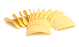 Chips potato. Snack chips potato isolated on white background stock images