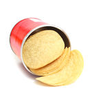 Chips potato in box Royalty Free Stock Images