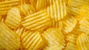 Chips, potato. Golden food background stock photo