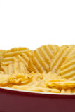 Chips potato in the red bowl Stock Photography