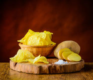 Chips and Potato Royalty Free Stock Photo